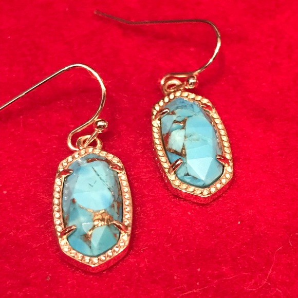 b964f85c8d603 🔥HP!🔥 KS Lee Earrings Veined Turquoise Magnesite